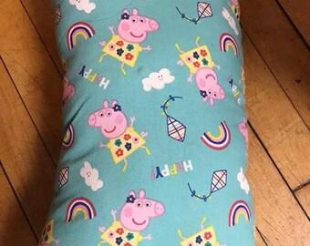 Handmade Peppa Pig throw pillow
