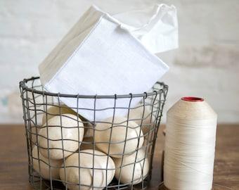 white linen tissue cover