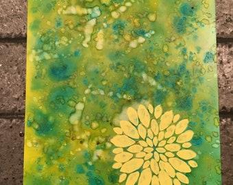 Spring Dandelion - alcohol ink art