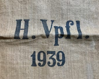 Genuine German Military Food / Grain Supply Sack Bag from 1939 H.VPfl. Heeres Verpflung