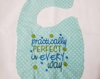 Practically Perfect in Every Way bib
