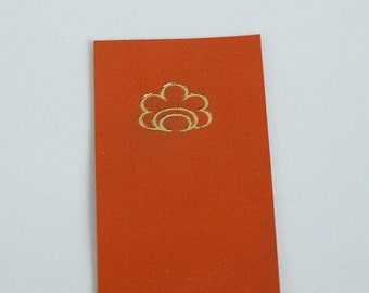 orange leather bookmark