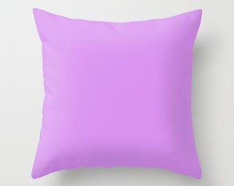 Bright Lilac Pillow, #D891EF, Solid Lilac Throw Pillow, Solid Purple Pillow, Light Purple Pillow, Minimalist Decor, Minimalist Pillow