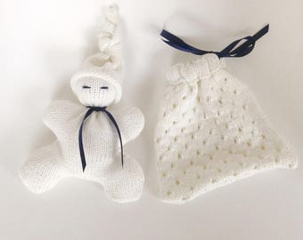 White Pixie newborn box and bag/blanket