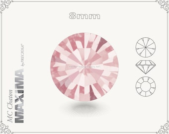 6 pc.+ SS39 (8mm) Preciosa MC Chaton MAXIMA - Light Rose Color