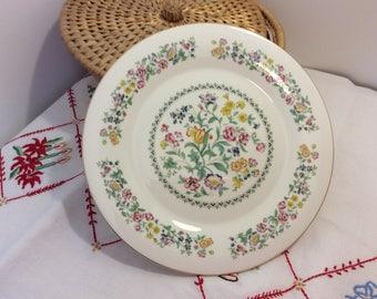 English bone china, Royal Kent china, china cake plate, china serving plate, vintage cake plate,