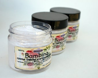 Soap Bambina 2 oz Mini Creme Fraiche Whipped Soap Trial Sample Size VEGAN