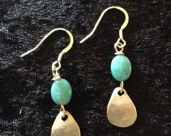 Silver and Chalcedony earrings