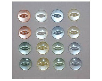 160 x buttons basic 14 mm 2 holes set Q - 000827