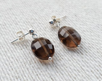 Smoky Quartz Earrings, Quartz Earrings, Smoky Quartz, Dangle Earrings, Stud Earrings, Gemstone Earrings, Gift for Her