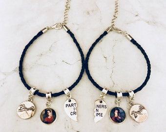 Paired bracelet Teen Wolf, Scott Mccall jewelry, Stiles Stilinski jewelry