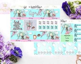 April EC Monthly Planner Sticker Kit