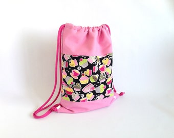 Backpack children + 6 years Cakes pink