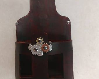Leather Steampunk holster for Nerf Strongarm and Maverick Rev 6