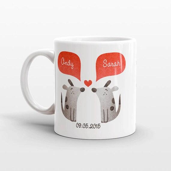 DOG Mug Valentines Day Gift for Husband for Him Dog Couple Mug Engagement Gift Unique Coffee Mug Personalized Mug Dog Coffee Cup Animal Mug