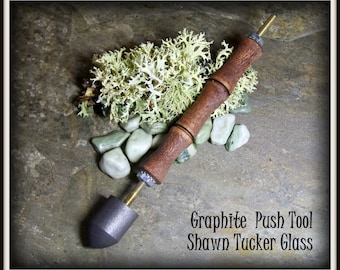 Graphite Bowl Push Tool - READY TO SHIP - Shawn Tucker Tools -  .75 inch Graphite Push for Beadmaking Lampworking and Glassblowing