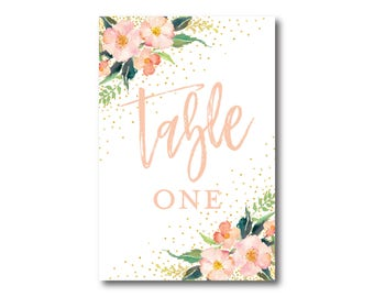 Printed Table Numbers, Table Number Card, Printed Table Numbers, Wedding Table Numbers, Table Number Sign, Reception Table Number #CL309