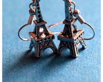 Handmade Silver Eiffel Tower Earrings