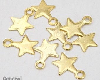 6mm Gold Tone Star Charm (24 Pcs) #3756