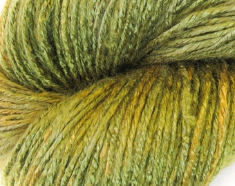 "Vegan, bamboo yarn ""Olive"" organic, green, hand painted yarn, knit yarn, hand dyed yarn, crochet yarn, yarn for weaving, eco-friendly yarn"