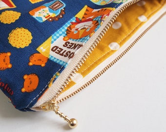 Circus Zipper Pouch / Phone Case Made with Japanses Fabric