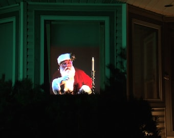 Original Virtual Santa DIGITAL DOWNLOAD for Window Projection