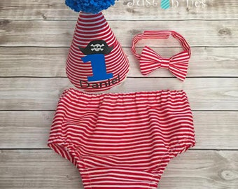 Pirate Themed Baby Boy Cake Smash Outfit First Birthday Outfit