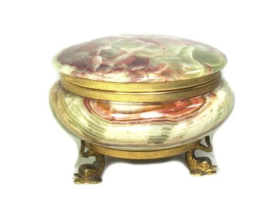Vintage Italian Marble Trinket Box