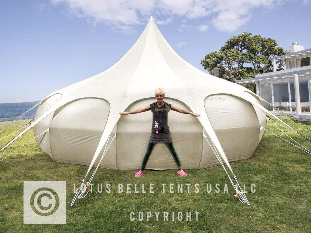 ?zoom & 20ft Lotus Belle Tent yurt burning man glamping festival
