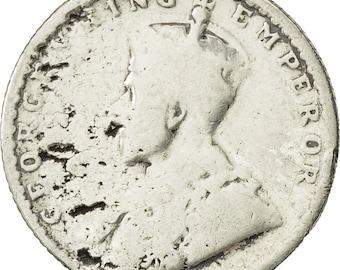 india-british george v 1/4 rupee 1915 vf(20-25) silver km518