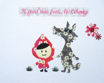 Applied fusible little Red Riding Hood seconds liberty liberty coat liberty patch iron iron on liberty fabrics