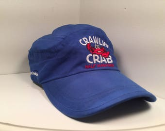 "Blue Lightweight Sports Cap ""Crawlin Crab Half Marathon"""
