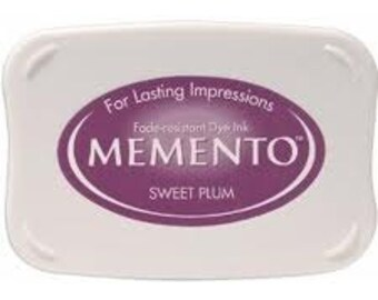 Plum ink pad for rubber stamps  Sweet plum Memento stamp pad --9111