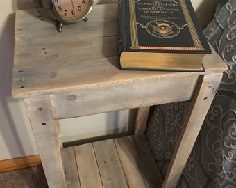 Pallet End Table/ Night stand  (Shipping Included)