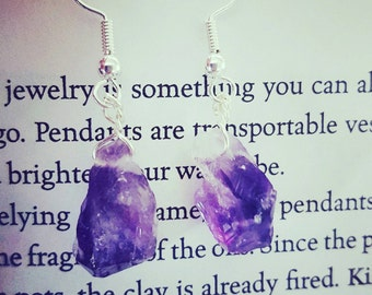Amethyst Crystal Earrings, Crystal Point Earrings, Amethyst Earrings, Amethyst Crystal Point, Amethyst Crystal, Birthday Gift, Gift for Her