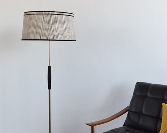 Vintage Mid Century Modern 1950s Monochrome Standing Lamp