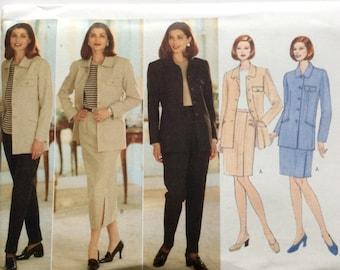 Butterick 4746, Women's Jacket, Skirt and Pants Pattern, Size 12, 14, 16, Vintage Uncut Pattern, JH Collectibles