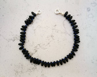 "Mixed bracelet ""Tahiti"" small black matte"