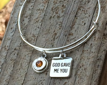 God gave me you bullet bangle