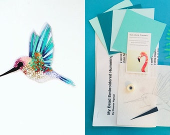 My Bead Embroidered Humming Bird Kit and Tutorial
