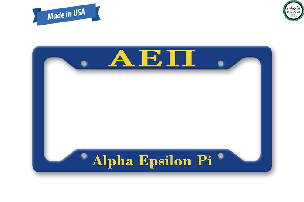 Alpha Epsilon Pi placa marco fraternidad personalizado Auto
