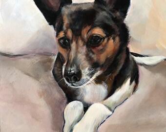 Sweet Terrier Giclee Print, 9 x 12