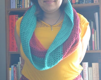 Tri-Color Circle Scarf
