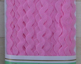 croquet zig zag Ribbon serpentine from 5 mm pink polyester set plate 30 meters
