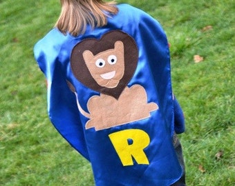 LION Superhero Cape Costume  Capes Custom Personalized Lion Kid Cape