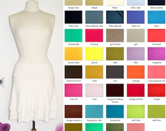Skirt Corolla short ruffle 39 colors available
