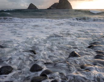 Foamy Water Along the Oregon Coast |  Pacific Northwest Photography | Print | Metal, Canvas, or Lustre