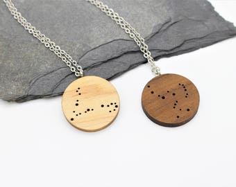 Constellation Necklace | Laser Cut Space & Science Jewellery | Astronomy | Star Signs | Zodiac | Celestial Necklace | 22 To Choose From
