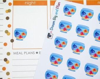 Fish Tank Planner Stickers! DBP47