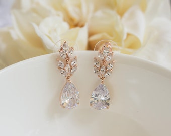 Bridesmaid Earrings   Bridesmaid Gifts   Rose Gold Earrings   Bridal Earrings   Dangle Earrings   Weddings